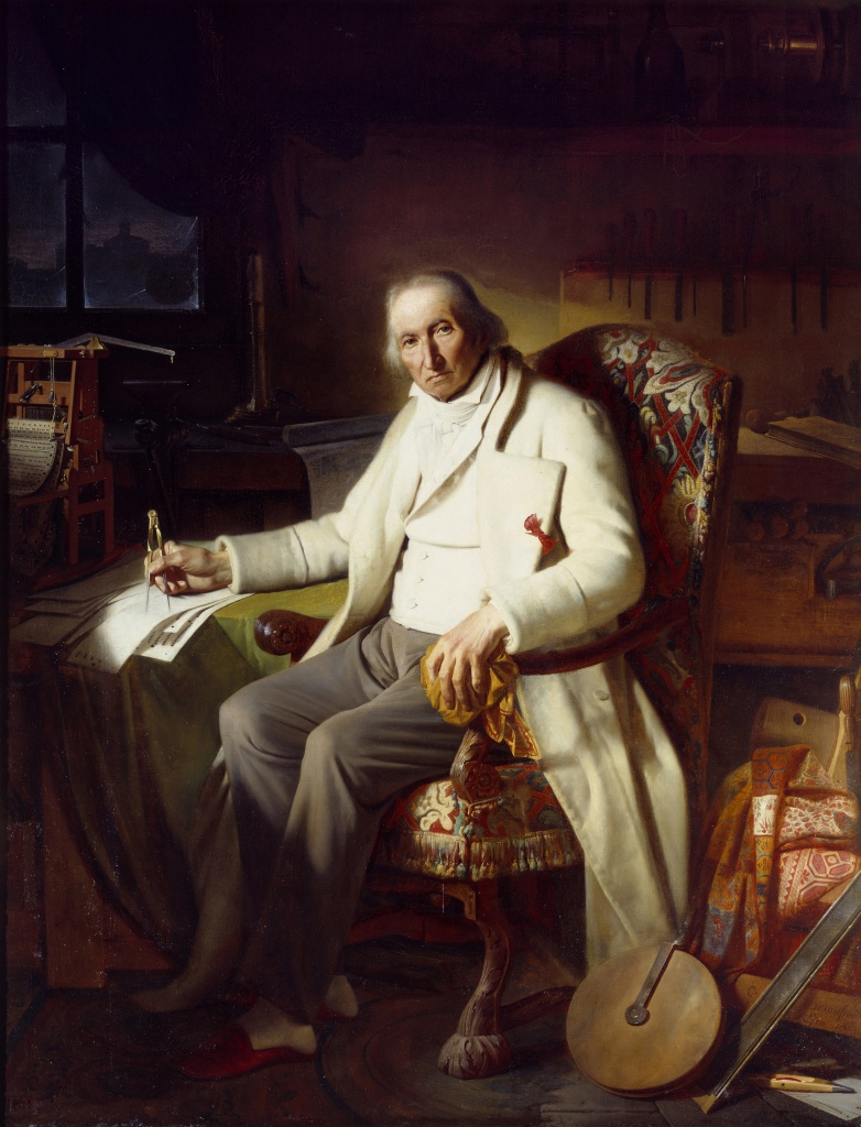Последний прижизненный портрет Жозефа Мари Жаккара кисти Клода Боннефона (1834 г.)